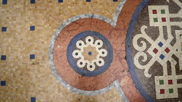 forward: old tiles in the floor in milan italy elegantly designed - milan stock videos & royalty-free footage