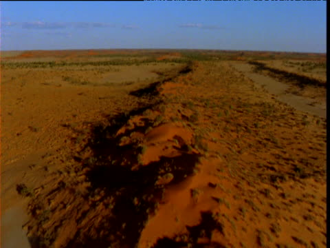 forward track along long sand dune in strzlecki desert, south australia - south australia bildbanksvideor och videomaterial från bakom kulisserna
