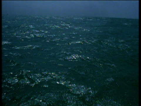 Forward track over ocean waves