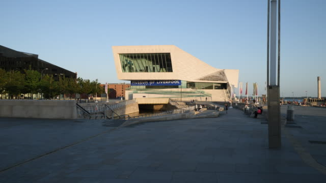 forward track to museum of liverpool - liverpool england stock videos & royalty-free footage