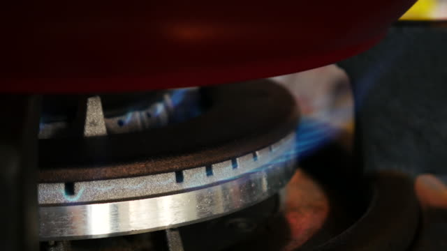 Fossil fuel gas stove burner , 4k resolution (UHD)