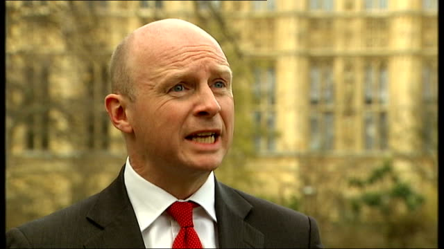 stockvideo's en b-roll-footage met foster carers and armed services exempted from 'bedroom tax' london ext iain duncan smith mp along and speaking to press sot there's no climb down at... - southport engeland