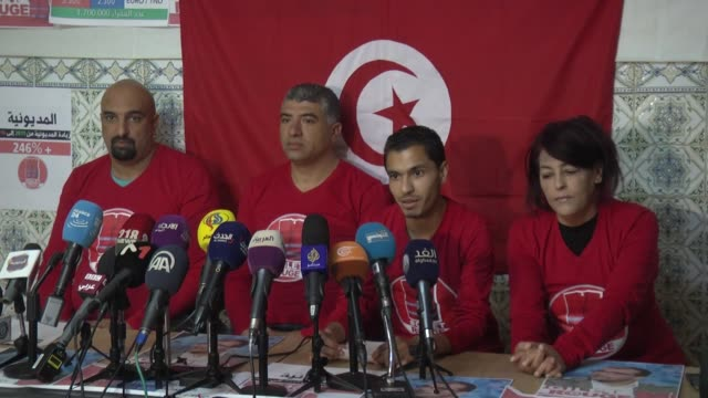 """founders of tunisia's """"red vests"""" campaign said friday that they would stage """"peaceful demonstrations"""" across the country in coming days campaign... - social movement stock videos and b-roll footage"""