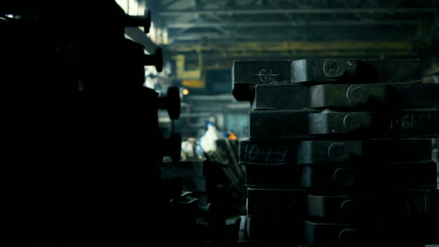 foundry. stacks cast iron details in workshop - foundry stock videos & royalty-free footage