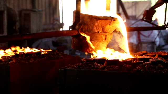 foundry - metal industry stock videos & royalty-free footage
