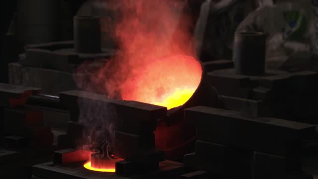 vídeos y material grabado en eventos de stock de 4 k : fundición de - bronceado