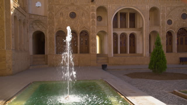 fountain and walls of the borujerdi house - intricacy stock videos & royalty-free footage