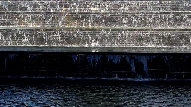 fontän och vattenfall från granit sten vägg - granite bildbanksvideor och videomaterial från bakom kulisserna