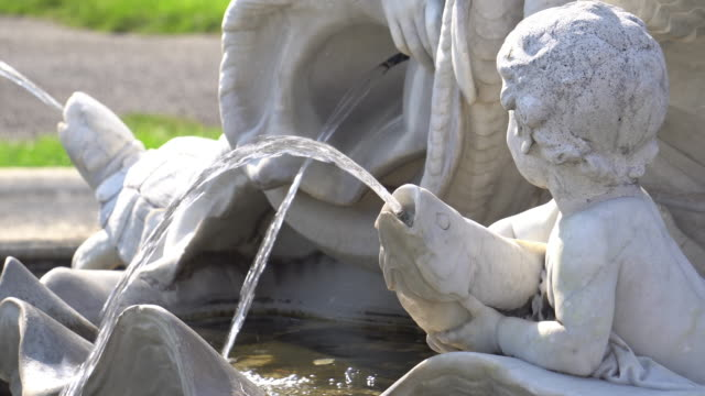fountain architecture vienna - austria stock videos & royalty-free footage