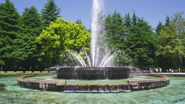 fountain at hibiya park in tokyo, japan - fountain stock videos & royalty-free footage