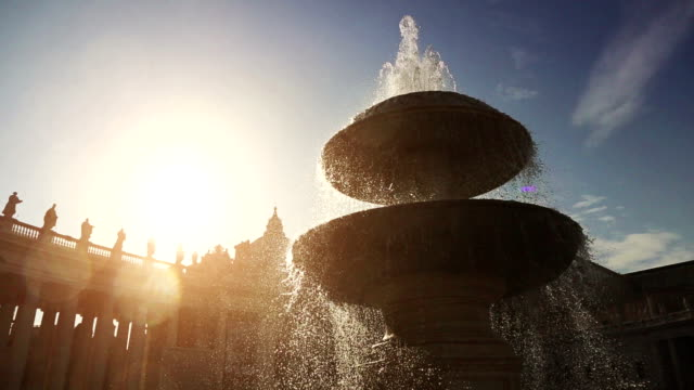 fountain at saint peter square in vatican, rome - fountain stock videos and b-roll footage