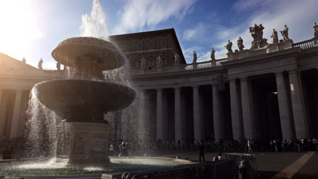 Brunnen von Saint Peter Square im Vatikan, Rom