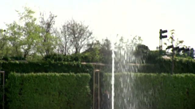 fountain in belvedere palace garden in vienna - belvedere palace vienna stock videos & royalty-free footage
