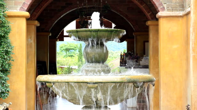 fountain in italian style garden for wellness background - health spa stock videos and b-roll footage