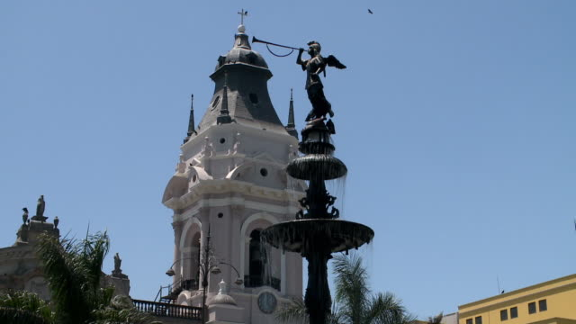fountain in lima, peru - lima peru stock videos and b-roll footage