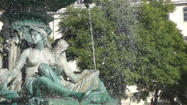 fountain in lisbon - fountain stock videos & royalty-free footage