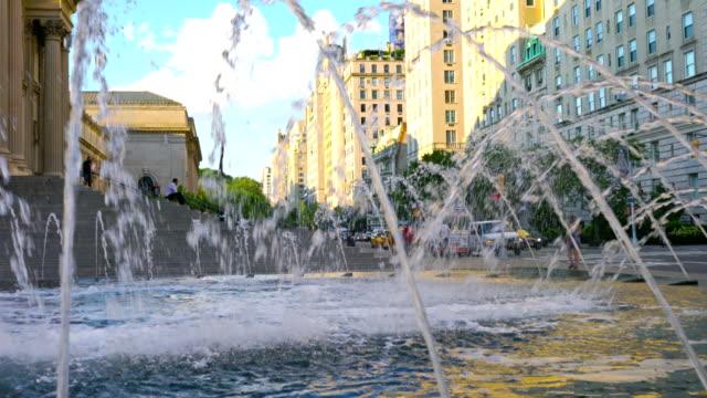 ニューヨークの噴水 - 噴水点の映像素材/bロール