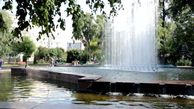Fountain in park of city of Zhytomyr. Ukraine.