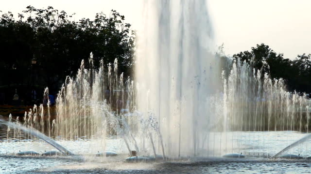 fountain in the park bangkok. - mckyartstudio stock videos and b-roll footage