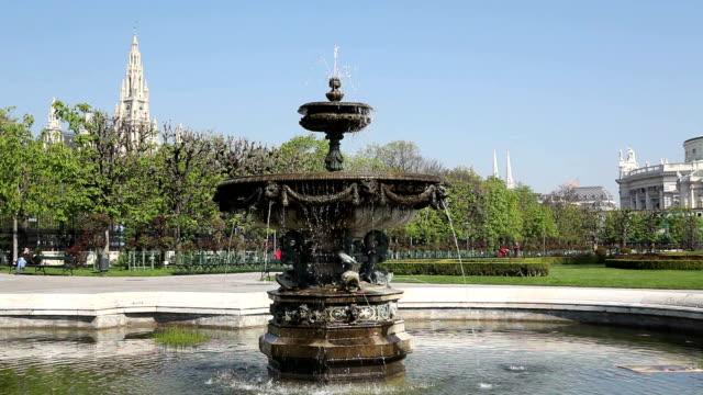 fountain in the Volksgarten, Vienna