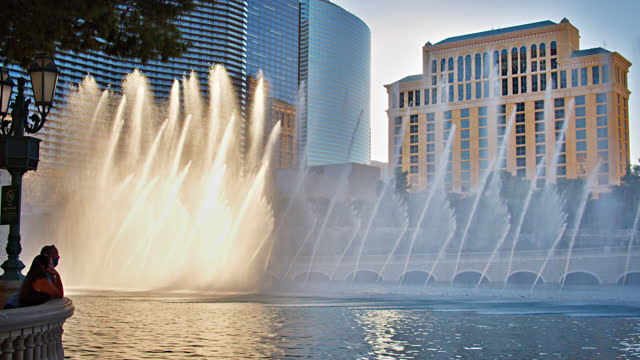 fountain. las vegas. - fountain stock videos & royalty-free footage