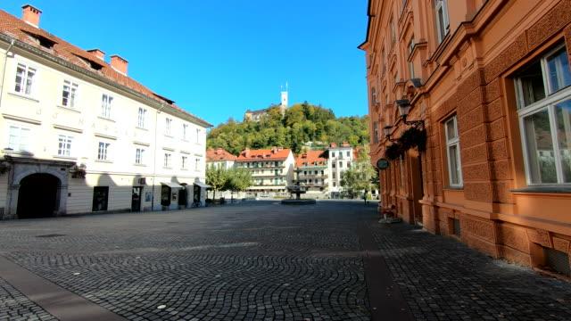 fountain - ljubljana, slovenia - digital enhancement stock videos & royalty-free footage