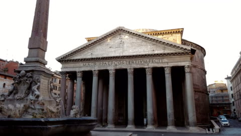 fountain of the pantheon in rome - rome italy stock videos & royalty-free footage