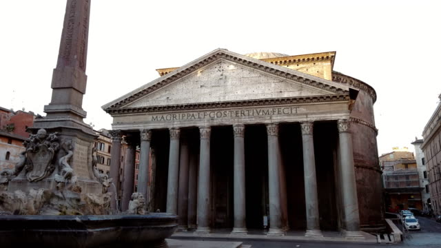 brunnen des pantheons in rom - rome italy stock-videos und b-roll-filmmaterial