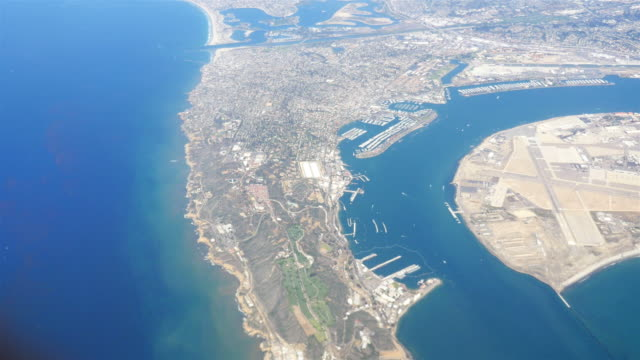 four aerial shots of san diego in 4k - san diego stock videos & royalty-free footage