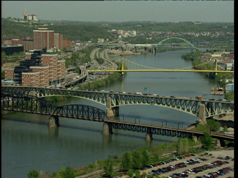 Four bridges spanning Ohio River