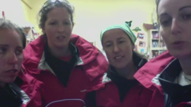 four british women hope to become first female crew to row across pacific ocean usa int laura penhaul interview via internet sot - richard pallot stock-videos und b-roll-filmmaterial