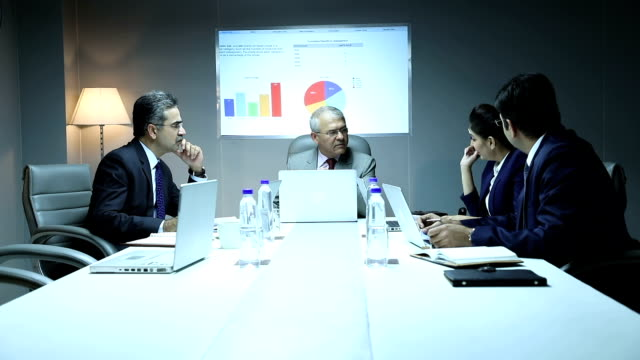 four business people doing meeting in the office, delhi, india - 50 59 years stock videos & royalty-free footage