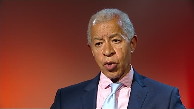 four chelsea fans banned from matches over racist incident england int lord ouseley interview sot the clubs themselves have to send out positive... - herman ouseley stock videos & royalty-free footage