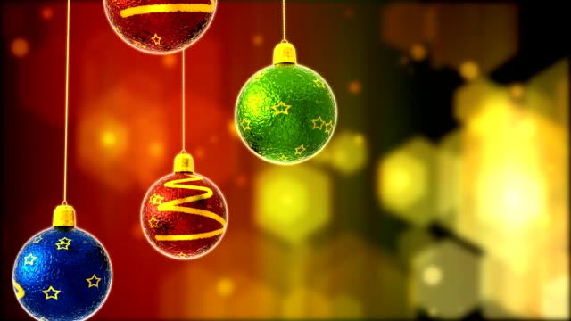 4 つのクリスマスボール - 雑貨点の映像素材/bロール