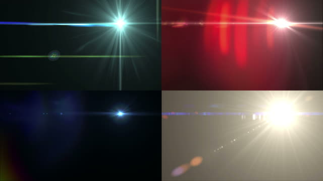 Four Different Lens Flare