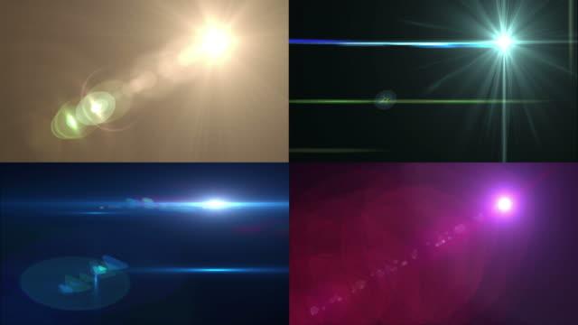vier verschiedene effekte - optisches gerät stock-videos und b-roll-filmmaterial