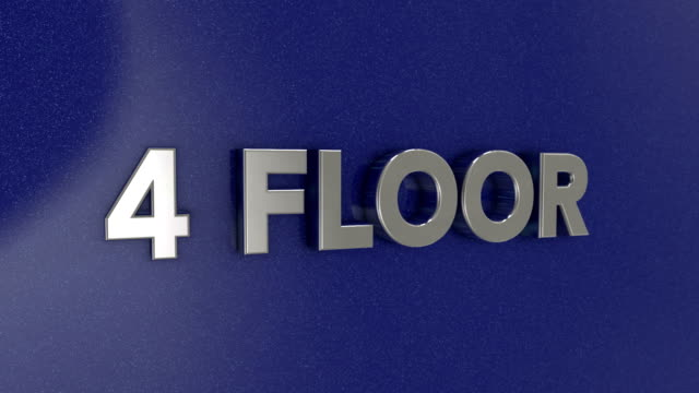 four floor 3d sign - elevator point of view stock videos and b-roll footage