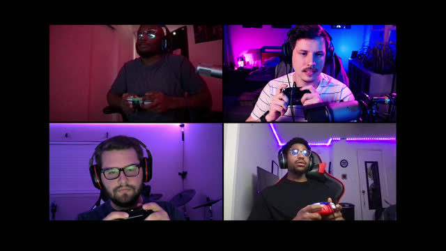 four friends chat while playing multiplayer video game on a video call - concentration stock videos & royalty-free footage