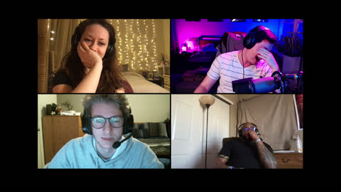 four friends get frustrated when they lose while playing multiplayer video game on a video call - alpha channel stock videos & royalty-free footage