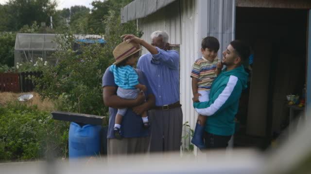four generation family bonding - multi generation family stock videos & royalty-free footage