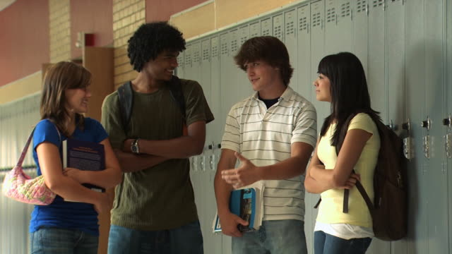 four high school students - see other clips from this shoot 1148 stock videos and b-roll footage