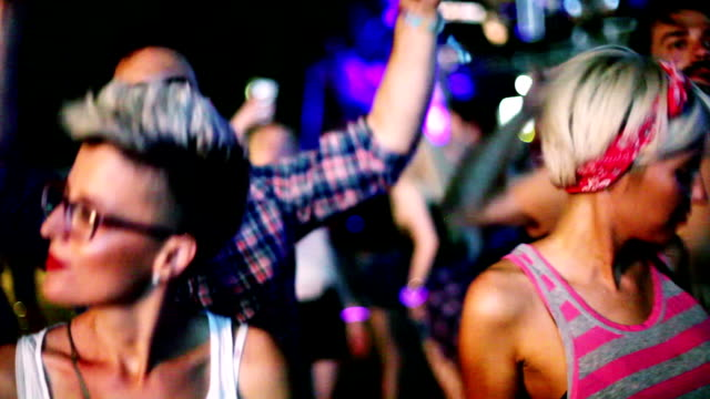 four hipster people dancing  at the concert - lightship stock videos & royalty-free footage