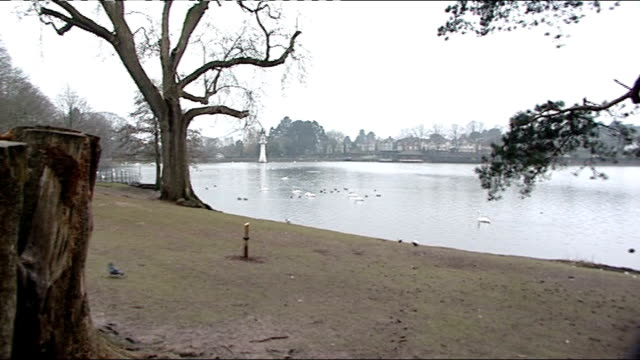 four islamist extremists admit to plotting terror attack on london wales cardiff roath park wide shot of lake and lake shore wide shot across lake to... - seeufer stock-videos und b-roll-filmmaterial