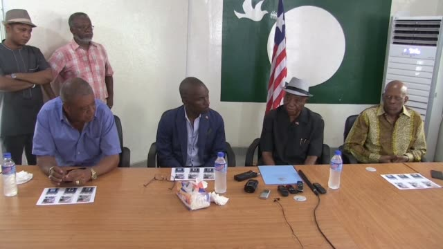 four liberian party leaders say they have discussed a merger to bolster vice president joseph boakai in his fight against former international... - nackenrolle kopfkissen stock-videos und b-roll-filmmaterial