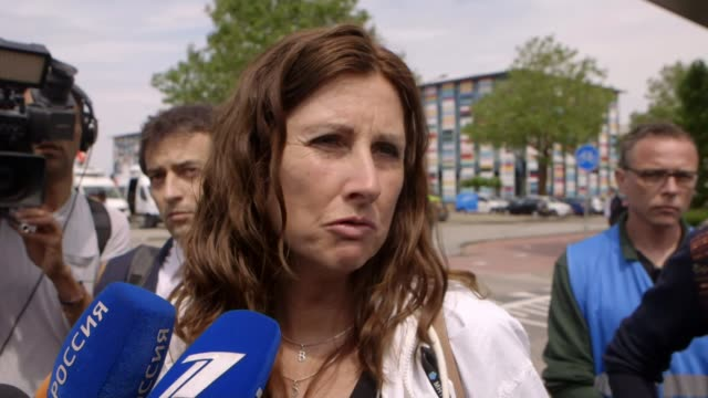 four men charged with murder over shooting down of malaysian airlines flight mh17 netherlands utrecht ext silene fredriksz interview sot - utrecht stock videos and b-roll footage