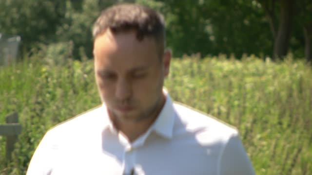 stockvideo's en b-roll-footage met four men charged with murder over shooting down of malaysian airlines flight mh17 england ext jordan withers setup shots / interview sot - crime and murder