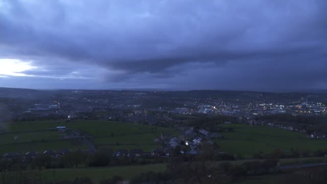 four men sentenced in huddersfield grooming gang case; england: west yorkshire: huddersfield: ext / dusk-night **interviews partly overlaid sot**... - gang stock videos & royalty-free footage