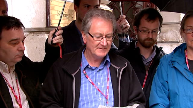family press conference after capsized vessel found with life raft on board england london foreign and commonwealth office ext family members of... - after life stock videos & royalty-free footage