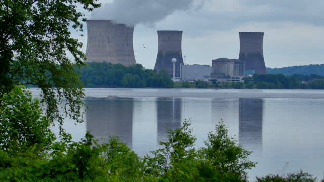 Four Nuke Power Cooling Towers More Trees 4k