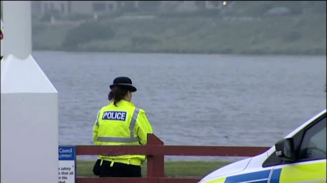 four offshore oil workers killed in helicopter crash interview audrey wood shetland ext members of coastguard rescue team along from their helicopter... - helicopter rotors stock videos and b-roll footage